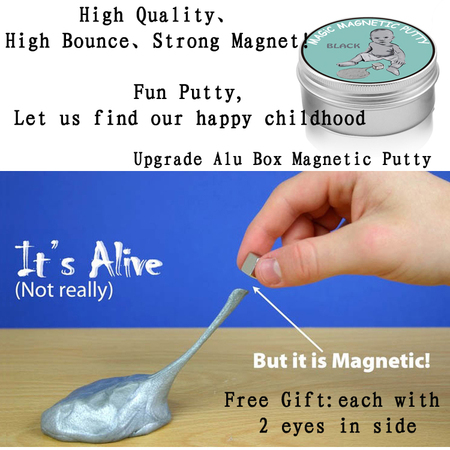 2016 New DIY Creative Toys of Silly Putty Magnet Plasticine Clay Magnetic Putty